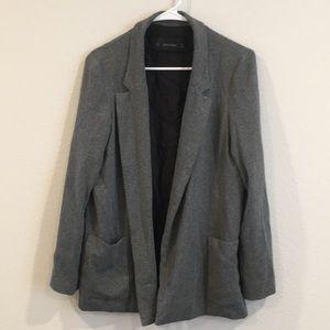 Zara Basic oversized gray blazer